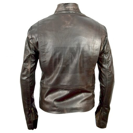 Burlesques Jack Faded Brown Leather Jacket Cam Gigandet