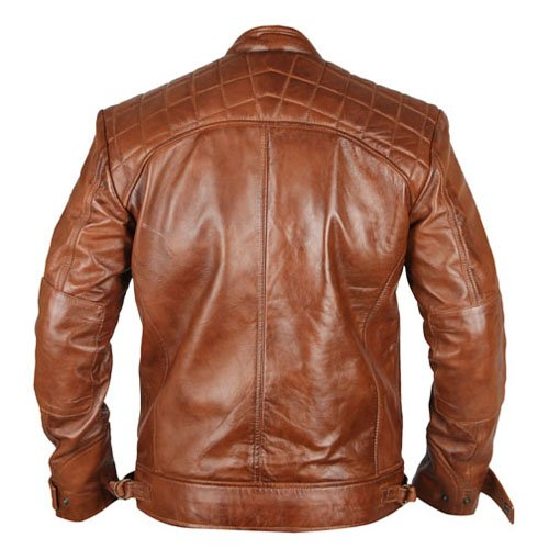 Cafe Racer 4 Biker Tan Brown Genuine Leather Jacket