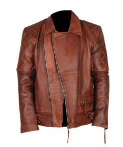 Cafe Racer 7 Biker Tan Brown Genuine Real Leather Jacket