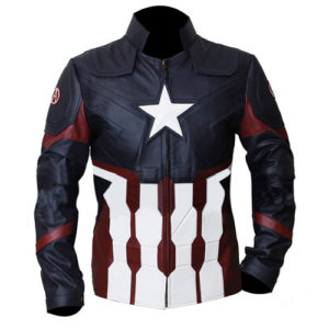 Captain America Civil War Faux Leather Jacket 1