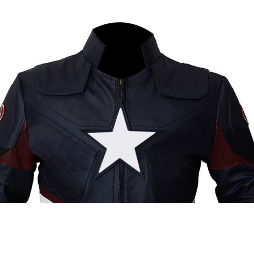 Captain America Civil War Faux Leather Jacket