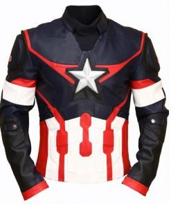 Captain America Civil War Genuine Leather Jacket Dark