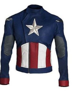 Captain America Civil War Slim Fit Genuine Leather Jacket