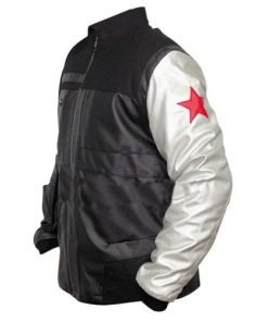 Captain America Civil War Winter Soldier Bucky Barnes Leather Jacket