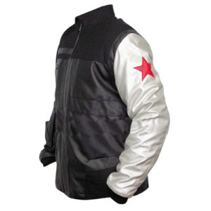 Captain America Civil War Winter Soldier Bucky Barnes Leather Jacket 2-New