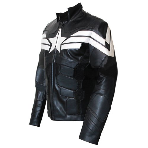 Captain America The Winter Soldier Genuine Black Leather Jacket