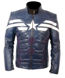 Captain America The Winter Soldier Mid Night Blue Slim fit Costume Jacket