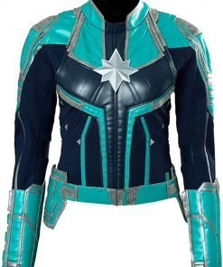 Captain Marvel Faux Leather Jacket
