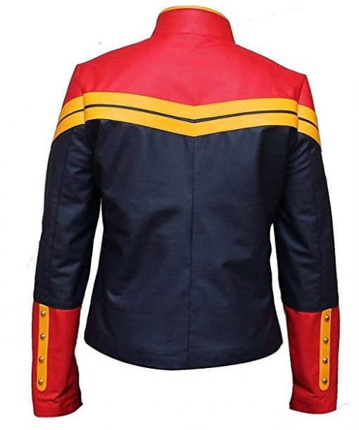 Captain Marvel Genuine Leather Jacket
