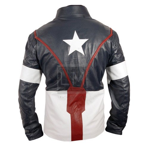 Captain America Age Of Ultron Genuine Real Leather Jacket