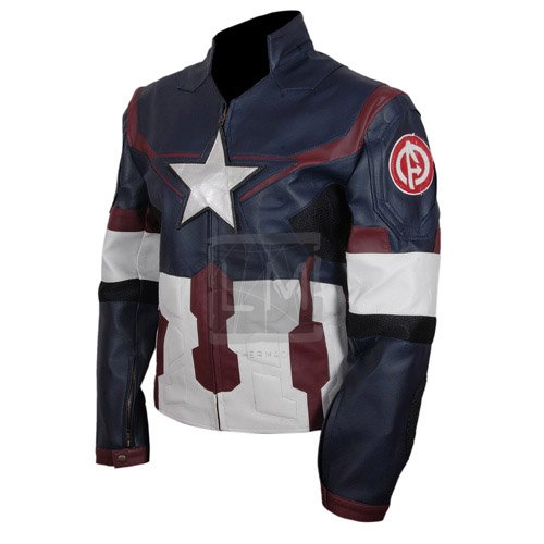 Captain America Avengers Age Of Ultron Faux Leather Jacket