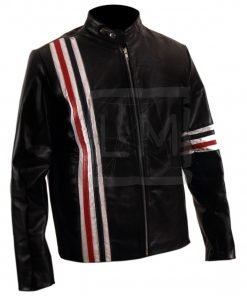 Captain America Easy Rider Genuine Leather Jacket USA Flag