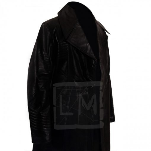 Carlitos Way Genuine Black Leather Long Coat