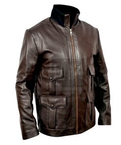 Casino Royale Daniel Craig Brown Leather Jacket James Bond 007