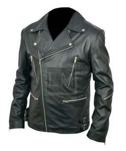 Classic Brando Black Biker Leather Jacket