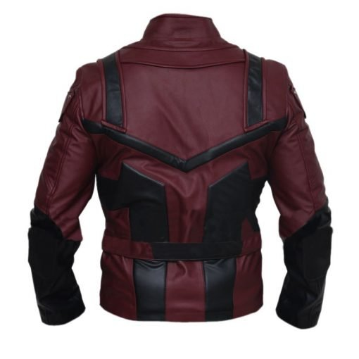 Daredevil Charlie Cox Black & Maroon Genuine Leather Jacket
