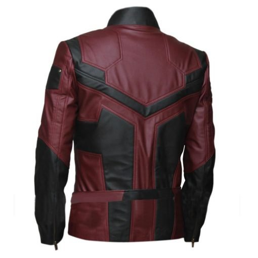 Daredevil Charlie Cox Black & Maroon Faux Leather Jacket