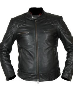 David Beckham Black Biker Faux Leather Jacket