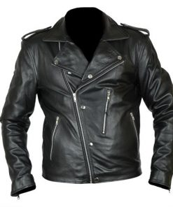 David Beckham GQ Magazine Biker Leather Jacket