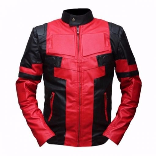 Deadpool Black & Red Leather Jacket