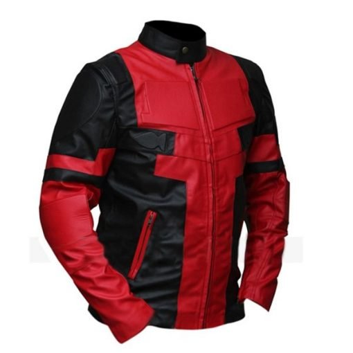 Deadpool Black & Red Faux Leather Jacket