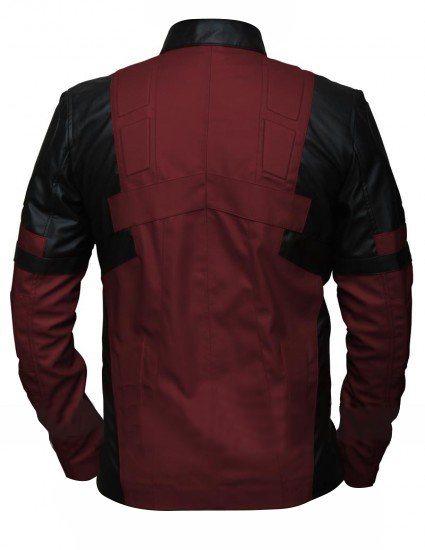 Deadpool Maroon & Black Faux Leather Jacket