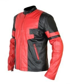 Deadpool Wade Wilson Ryan Reynolds Red Leather Jacket