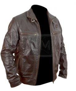 Die Hard 5 A Good Day To Die Harder Bruce Willis Brown Genuine Leather Jacket