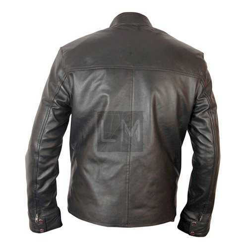 Dominic Torretto Black Biker Leather Jacket
