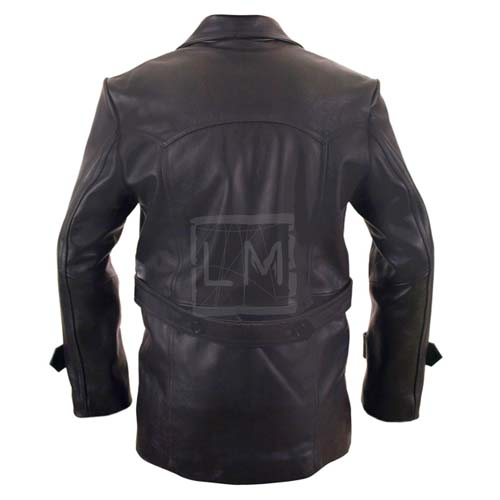 Dr Who Black Leather Jacket WWII U Boat style