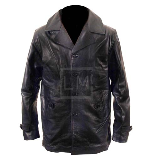Dr Who Single Breast Black Faux Leather Jacket