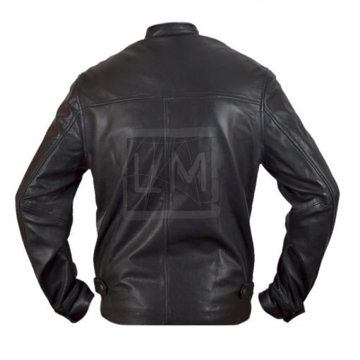 Fast And The Furious 6 Fast 6 Dominic Toretto Vin Diesel Black Genuine Cowhide Leather Jacket