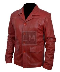 Fight Club Red Faux Leather Coat