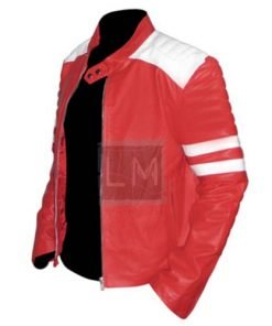 Fight Club Red Faux Leather Jacket