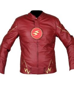 The Flash Red Genuine Real Leather Jacket