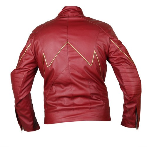 The Flash Red Faux Leather Jacket