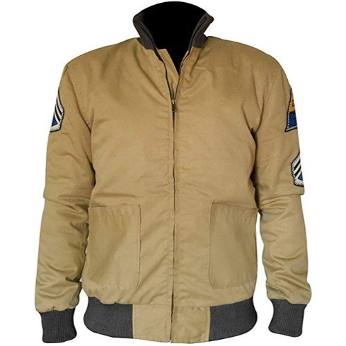 22e0d50e6 Fury Brad Pitt US Army Tanker WW2 Military Bomber Cotton Jacket