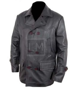 German WWII Black Cowhide Leather Jacket