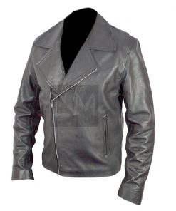 Ghost Rider Black Genuine Leather Jacket Nicolas Cage Johnny Blaze