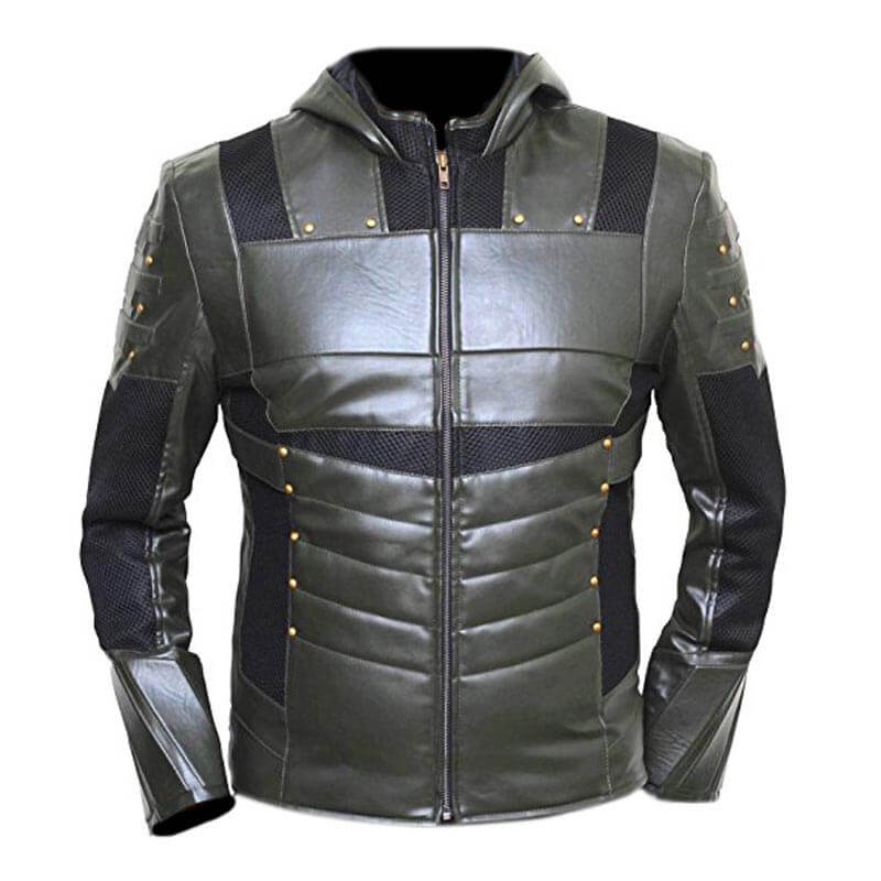 Green Arrow Season 6 Hoodie Faux Leather Jacket