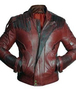 New Guardians Of The Galaxy 2 Star Lord Genuine Leather Jacket
