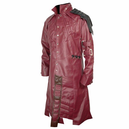 Guardians Of The Galaxy Red Faux Leather Coat