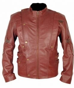 Guardians Of The Galaxy Burgundy Faux Leather Jacket