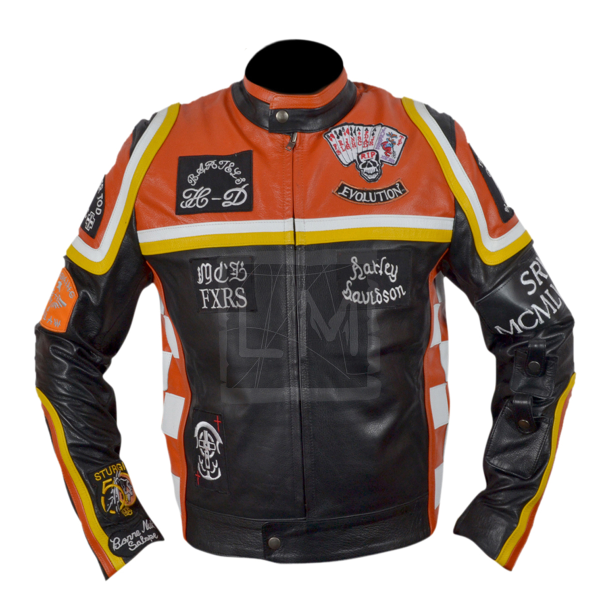 Harley davidson and the marlboro man leather jacket
