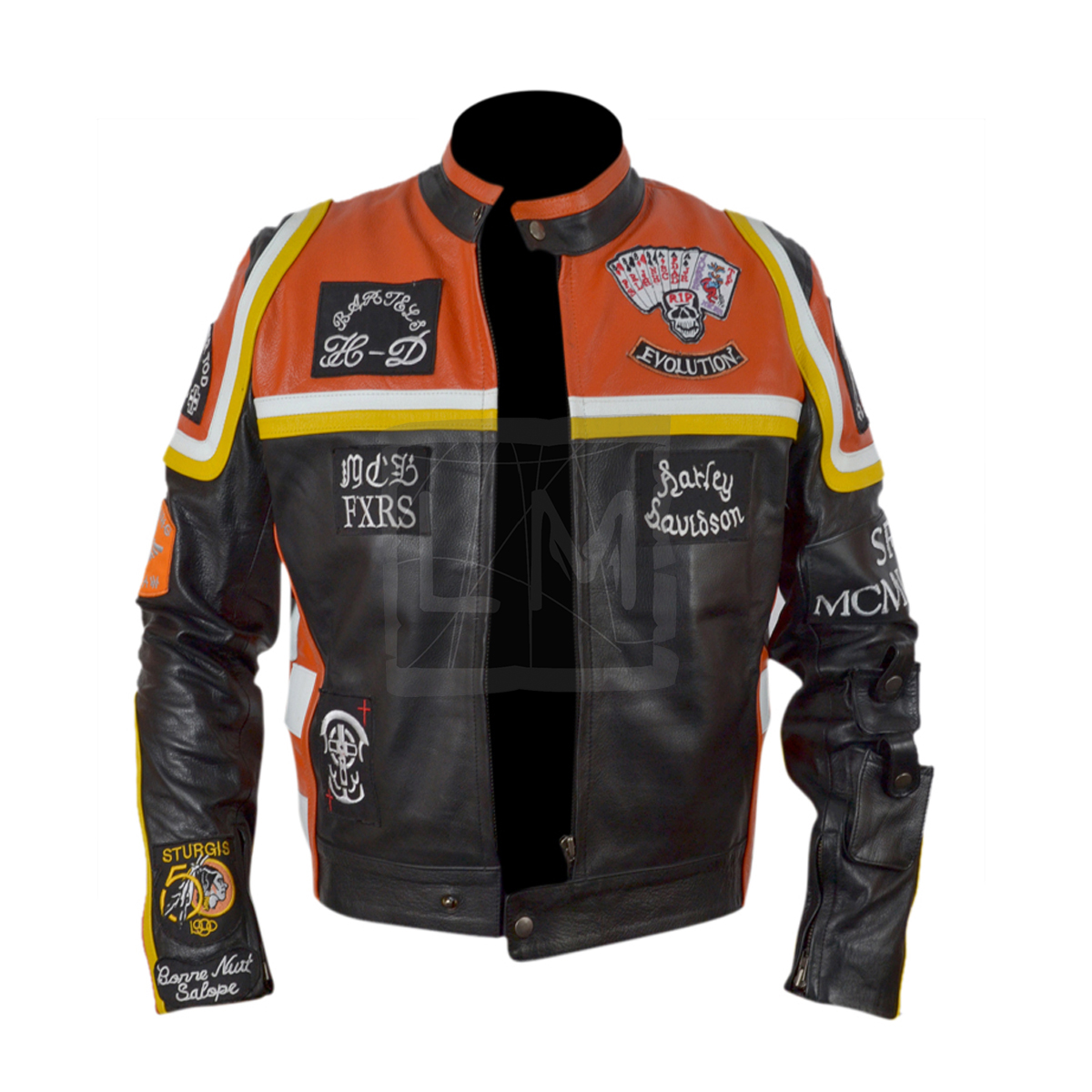 Harley Davidson And The Marlboro Man Mickey Rourke Genuine Leather ...