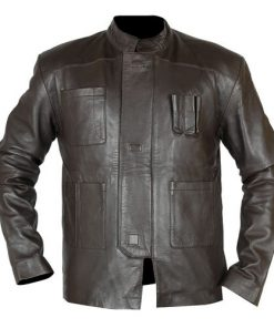 Han Solo The Force Awakens Brown Leather Jacket