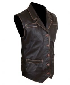 Hell On Wheels Cullen Bohannan Genuine Distressed Cowhide Leather Vest
