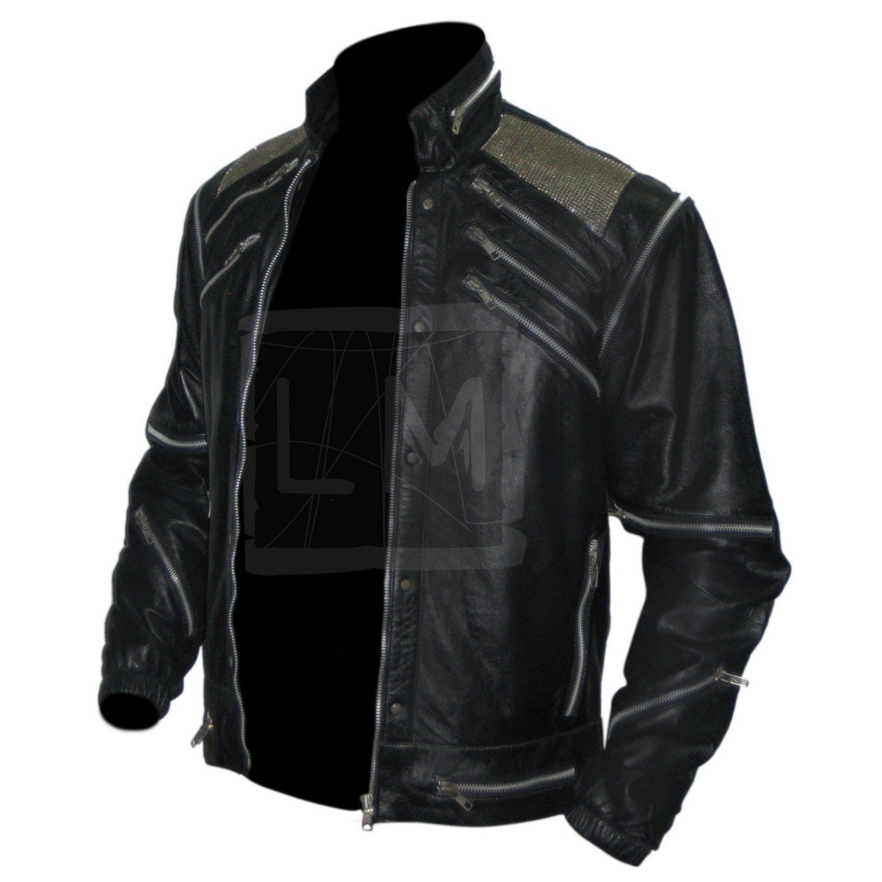 select for latest custom best value Michael Jackson Beat It Black Genuine Leather Jacket