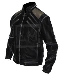 Michael Jackson Beat It Black Genuine Leather Jacket