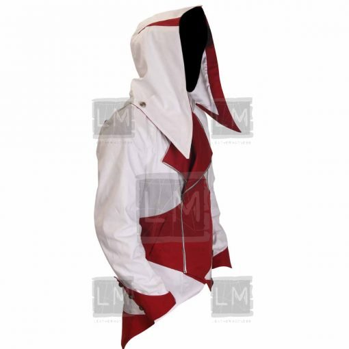 Assassins Creed 3 White And Red Denim Jacket